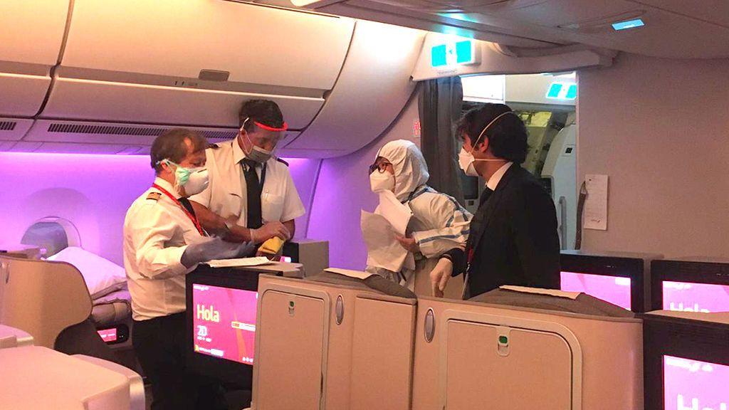 Control sanitario a la llegada a Shanghái