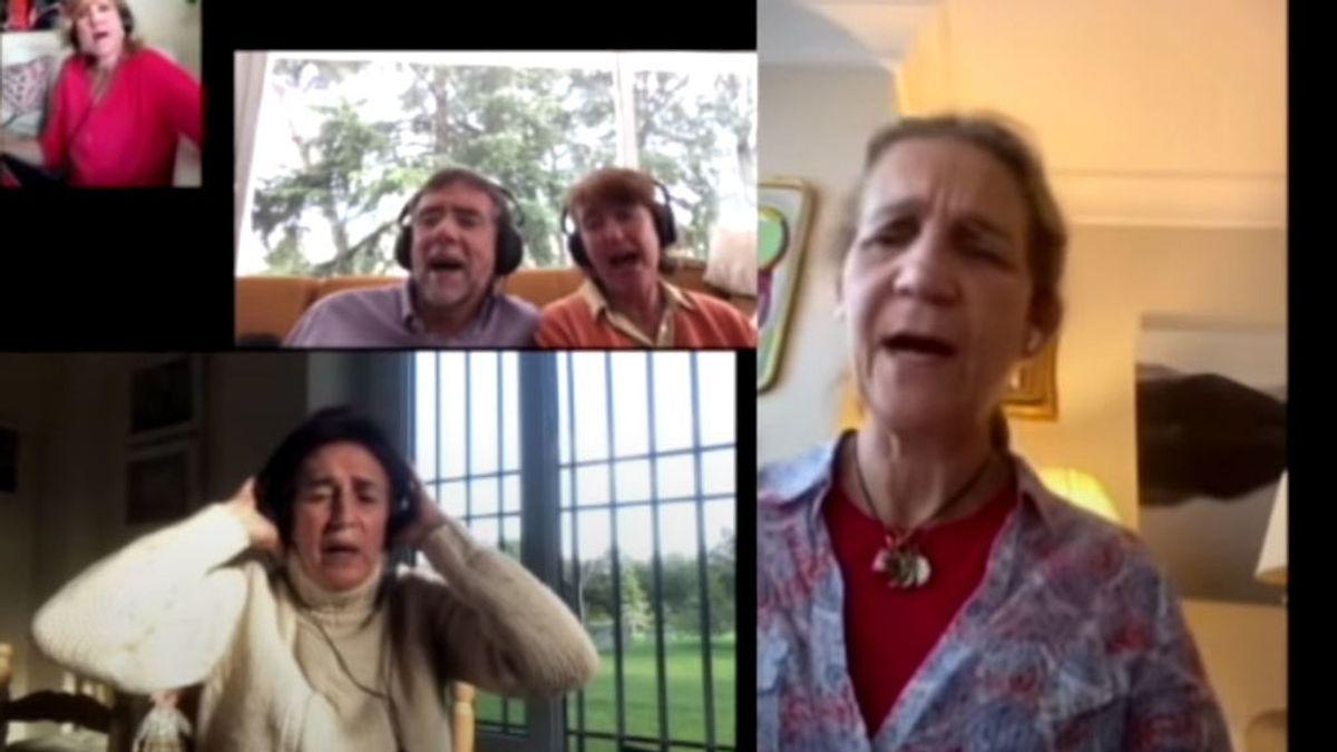 La Infanta Elena sorprende cantando el 'Resistiré' en un vídeo de Youtube
