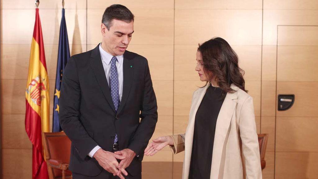 La líder de Ciudadanos Inés Arrimadas se reunirá manaña jueves  con Pedro Sánchez
