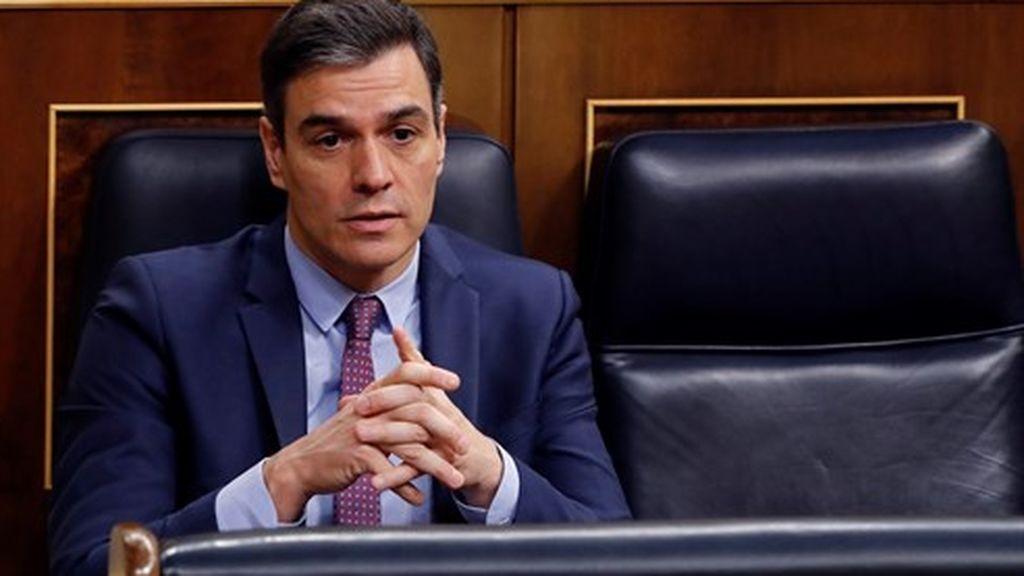 Pedro Sánchez en la sesión de control en el Congreso