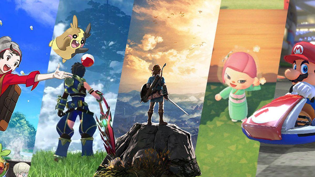 Pokémon, Xenoblade, The Legend of Zelda, Animal Crossing y Mario Bros.