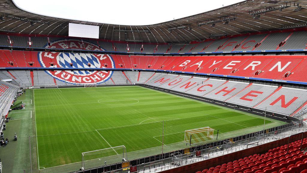 El estadio del Bayern, sin publico