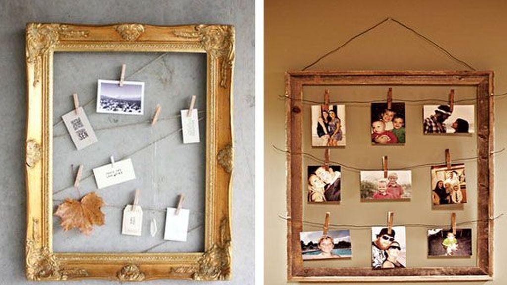 Un tablón de fotos.