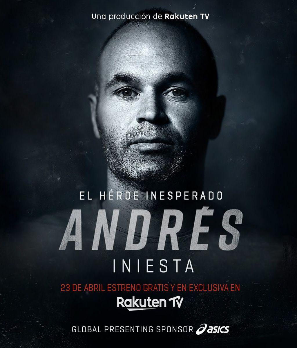 La imagen de la portada del documental de Andrés Iniesta.