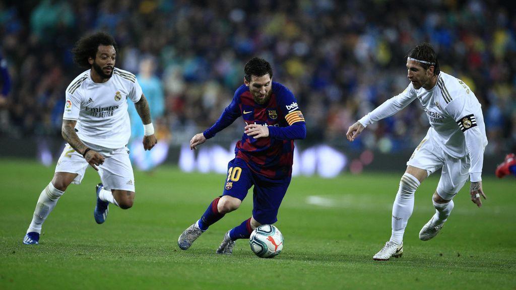 Sergio Ramos y Messi, en el último Clásico.