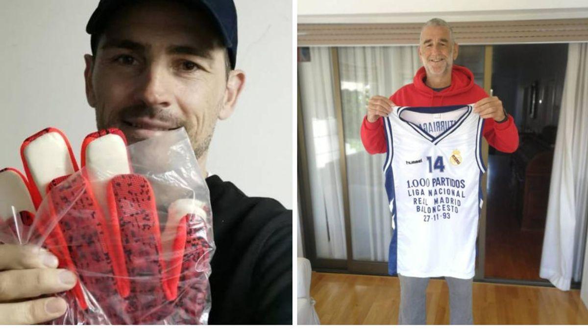 Los guantes de Casillas, la camiseta de Iturriaga o las botas de Roberto Carlos: las leyendas del Real Madrid se unen contra el coronavirus
