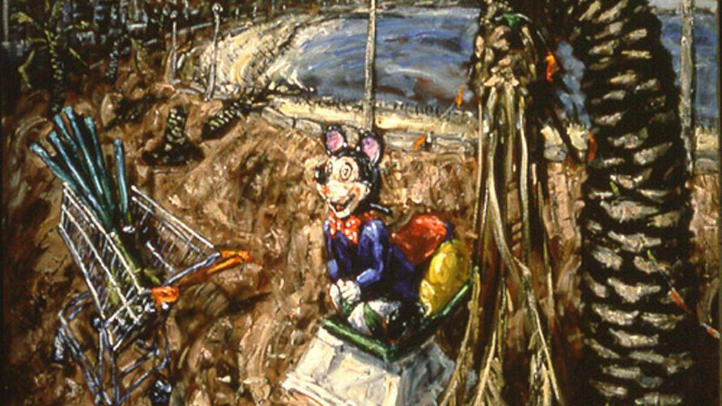2 John Keane, 'Mickey Mouse en el frente', 1991 ©John Keane