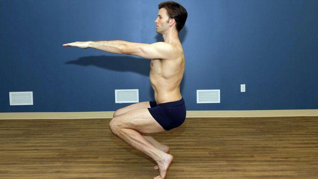 ejercicio de hatha yoga