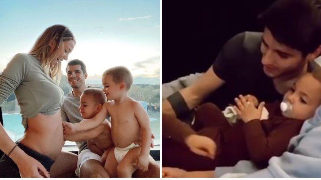 """Morata y Alice Campello cuentan a sus hijos cómo se llamará su tercer hermano: """"Te estamos esperando"""""""