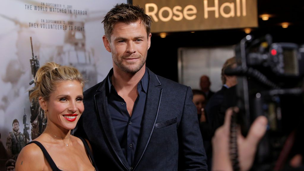 Uno de los hijos de Chris Hemsworth y Elsa Pataky se cuela en plena entrevista de su padre