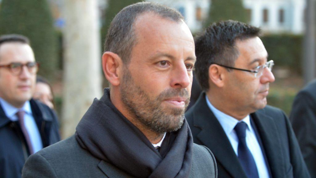 Sandro Rosell, acudiendo al juzgado a declarar.