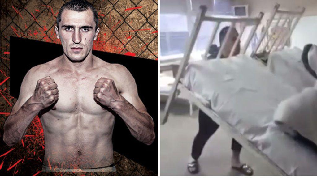 Un luchador de MMA contagiado con coronavirus entrena en el hospital haciendo pesas con las camas de los pacientes