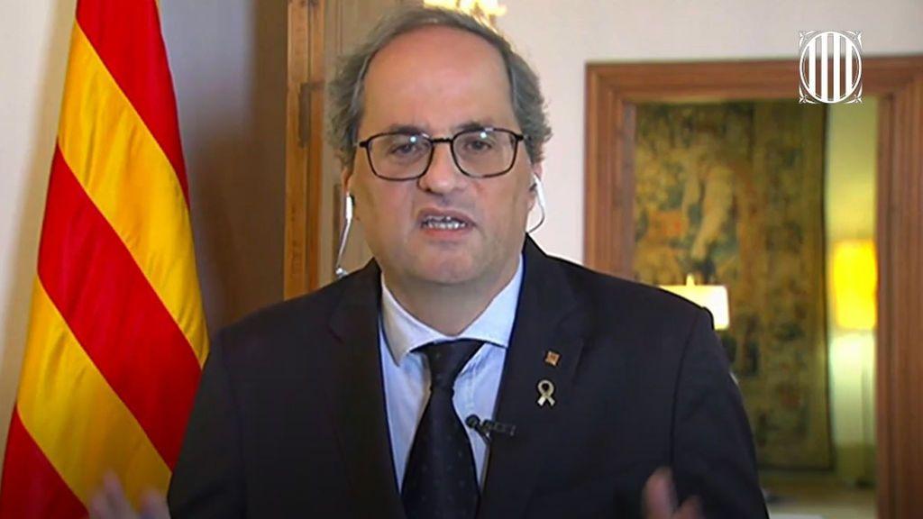Torra confía en que Sánchez permita a la Generalitat llevar a cabo su plan de desconfinamiento