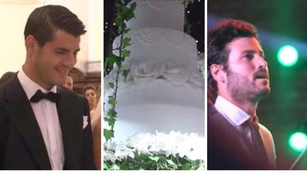 Morata y Alice Campello publican el vídeo de su boda: los nervios del jugador, una tarta voladora y la sorpresa de Taburete