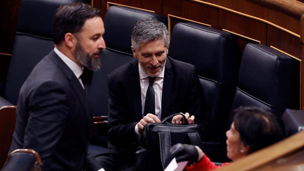Santiago Abascal junto al ministro Marlaska