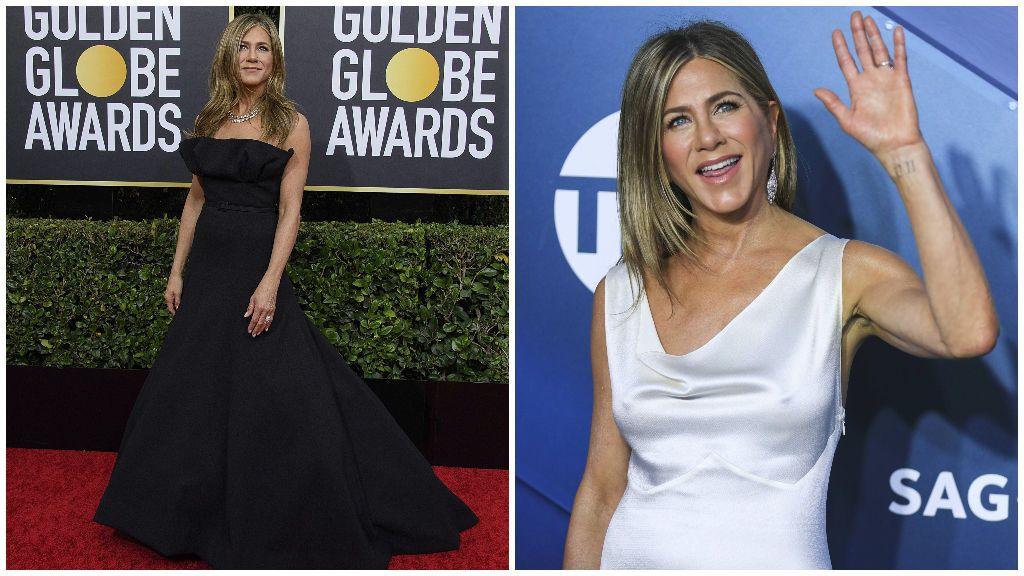 Jennifer Aniston en los Globos de Oro y en los SAG Awards.