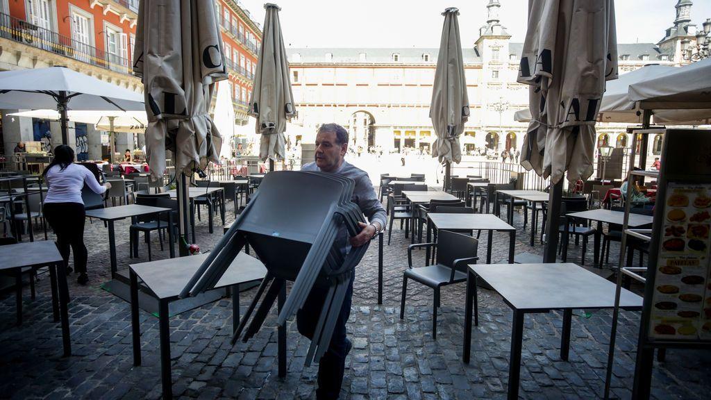 Bares y restaurantes de Madrid confían en abrir a principios de junio con más espacio en las terrazas