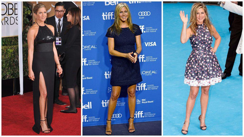 Jennifer y sus sandalias de tira.