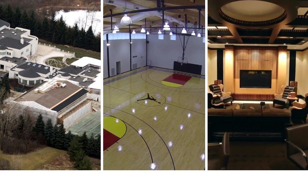 Michael Jordan trata de vender su mansión de 13 millones de euros tras el éxito de su último documental: cancha, salón de cigarros y una piscina infinita