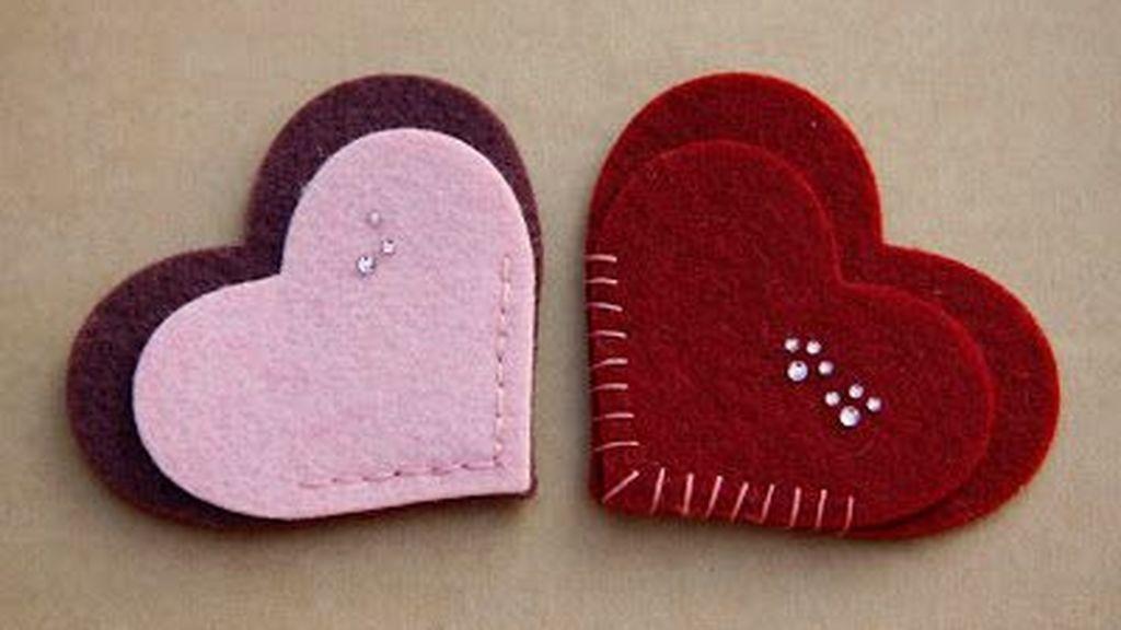 Marcadores en forma de corazón.