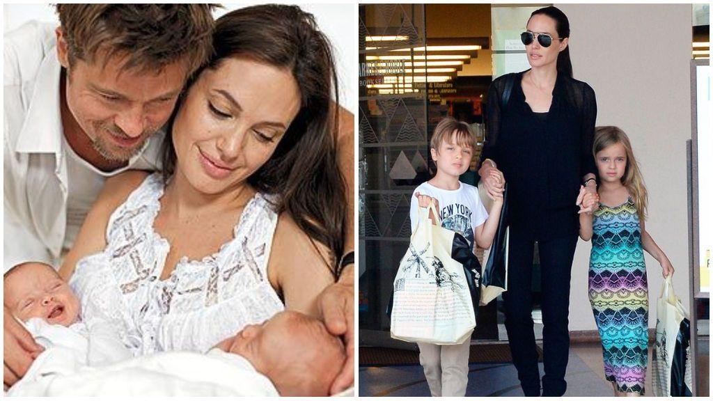 Los mellizosKnox Leon y Vivienne Marcheline Jolie-Pitt.