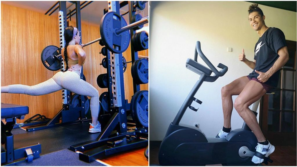 """El entrenamiento de Georgina con Cristiano Ronaldo en pleno confinamiento: """"Mi cama huele a ti"""""""