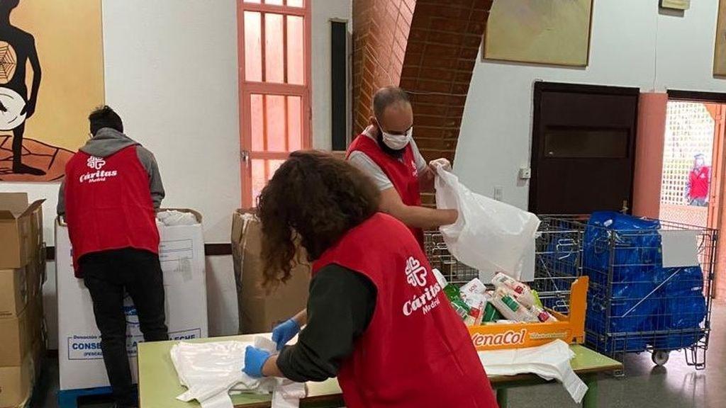 Las peticiones de ayuda a Cáritas se triplican en Madrid por el coronavirus
