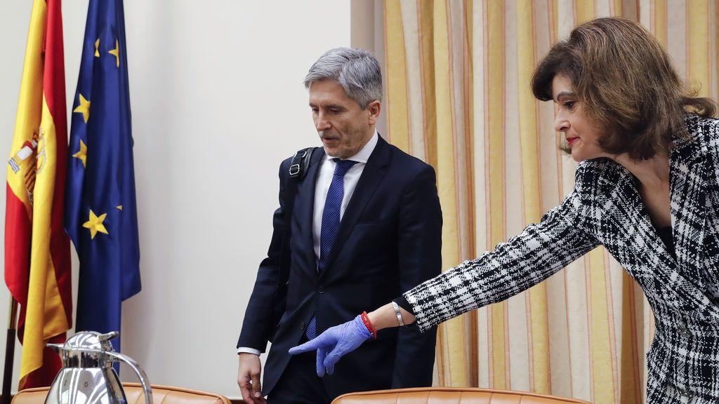 """""""Los bulos no son libertad de expresión"""", Marlaska se defiende en la Comisión de Interior"""