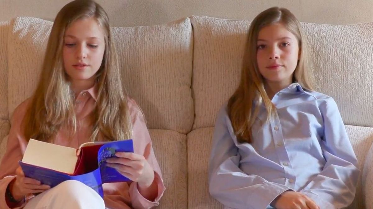 Conjuntadas y nerviosas: Leonor y Sofía reaparecen durante la cuarentena para mandar un mensaje a los jóvenes