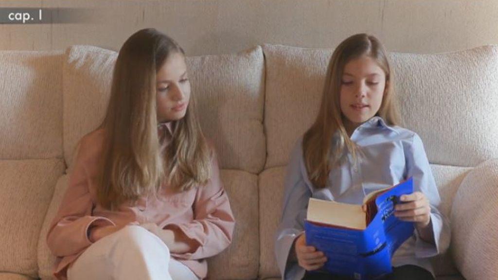 Las infantas leyendo un fragmento de El Quijote