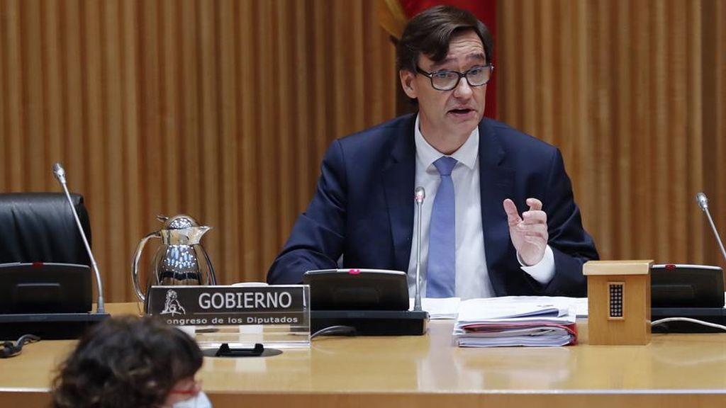 El ministro de Sanidad, Salvador Illa, en su comparecencia en el Congreso
