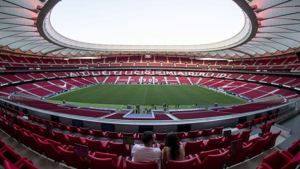 interior del Wanda Metropolitano, estadio del Atlético de Madrid