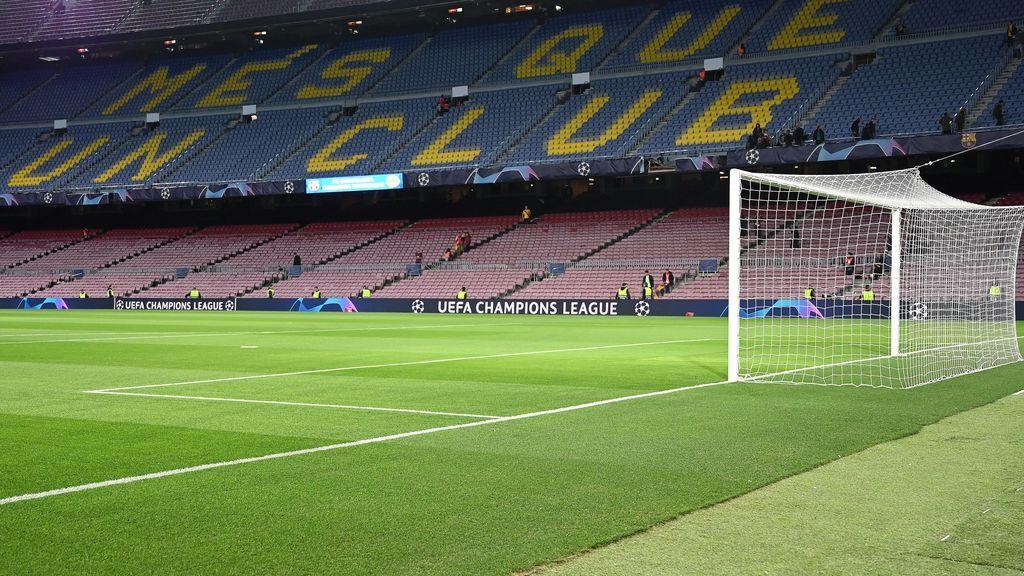 interior del Camp Nou, estadio del FC Barcelona