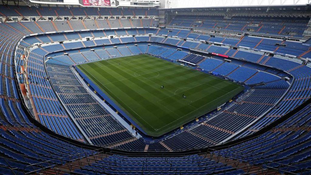 interior del estadio Santiago Bernabéu, estadio del Real Madrid