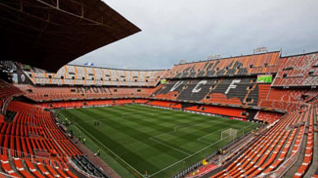 interior de  Mestalla, estadio del Valencia CF