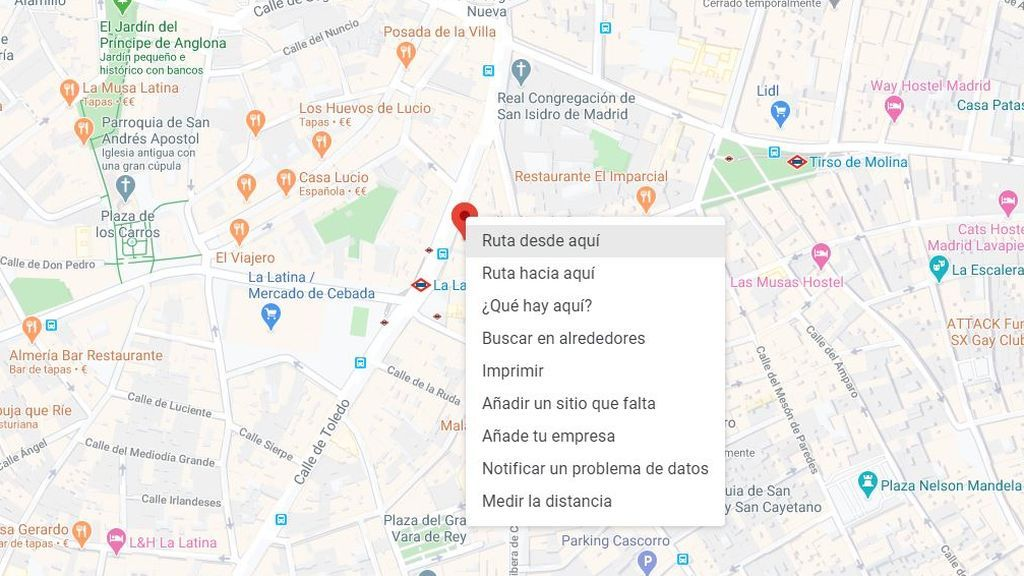 Herramienta para medir distancia entre dos puntos de Google Maps
