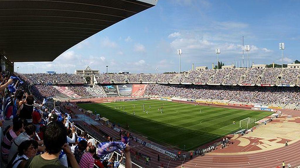 interior del Estadio Olímpico de Montjuic
