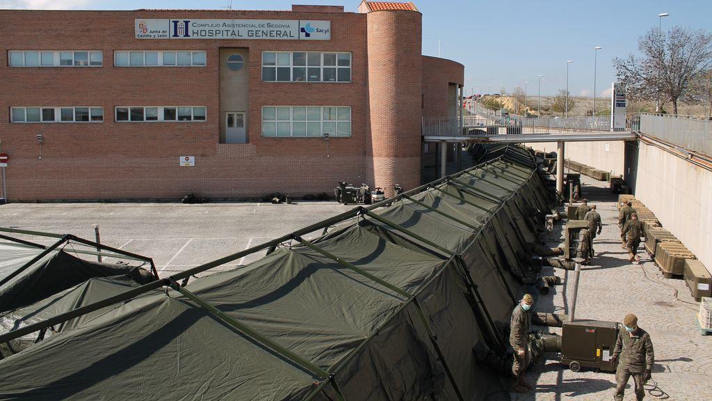 El Ejército desmonta hospital de campaña de Segovia sin llegar a estrenarlo por falta de medios