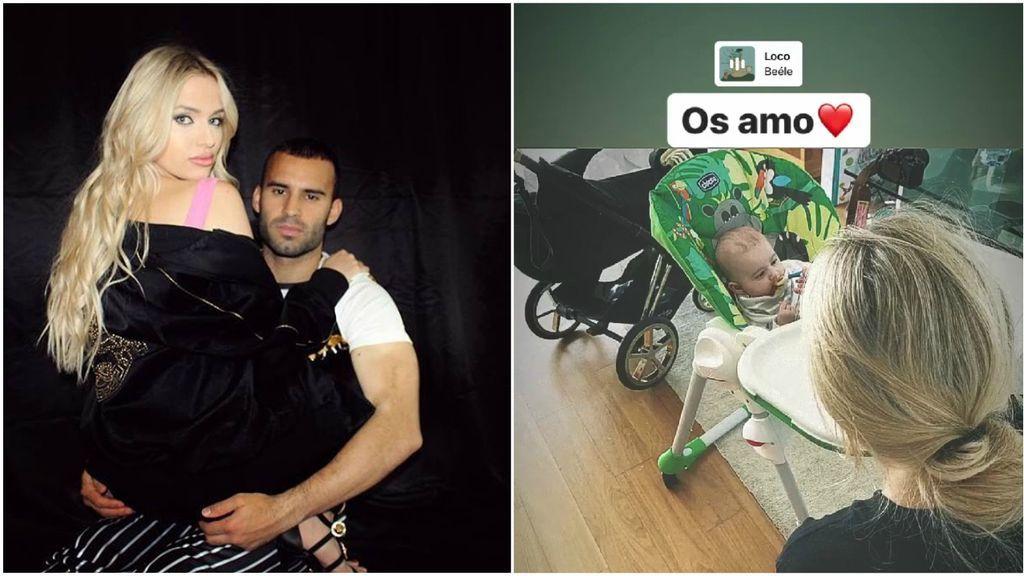 """Jesé se refugia en su novia y en su hijo Kenai antes de 'volver a empezar' en París: """"Os amo"""""""