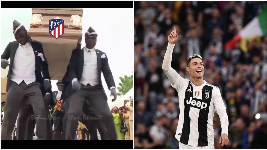 Cristiano Ronaldo, la eliminatoria de Champions contra el Atlético y el meme de los ataúdes: el montaje mofándose del Atlético que triunfa en redes