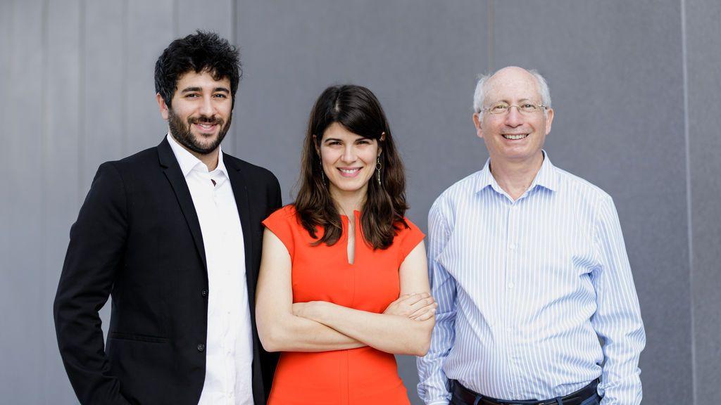 Yonathan Amir (izquierda) Kira Radinsky (centro) y Moshe Shoham (derecha), fundadores de Diagnostic Robotics