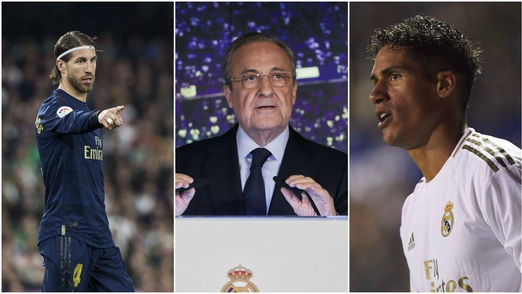 El Real Madrid tiene dudas con la renovación de Sergio Ramos y quiere blindar a Varane a toda costa
