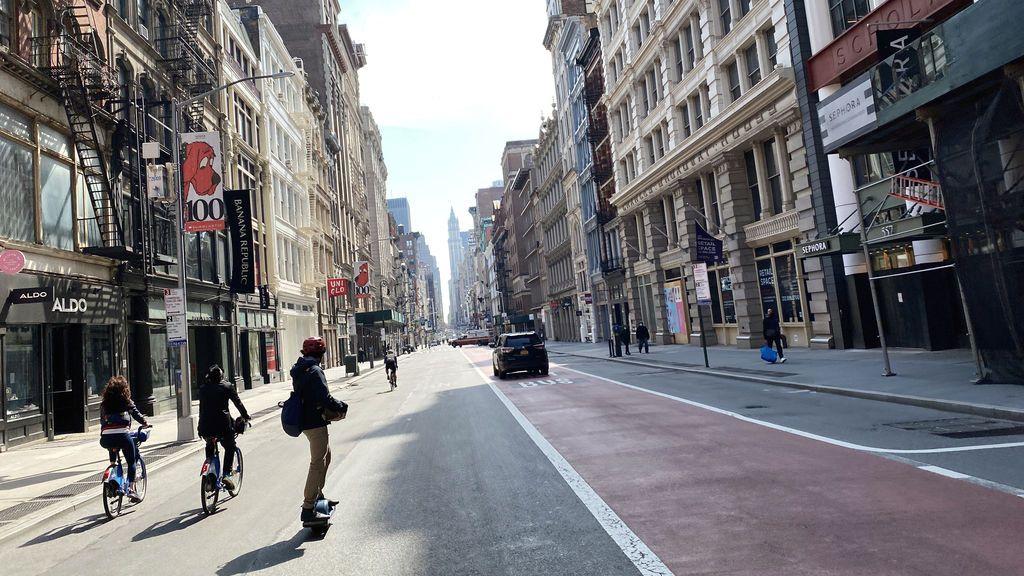 Nueva York peatonalizará hasta 160 kilómetros de calles para evitar aglomeraciones