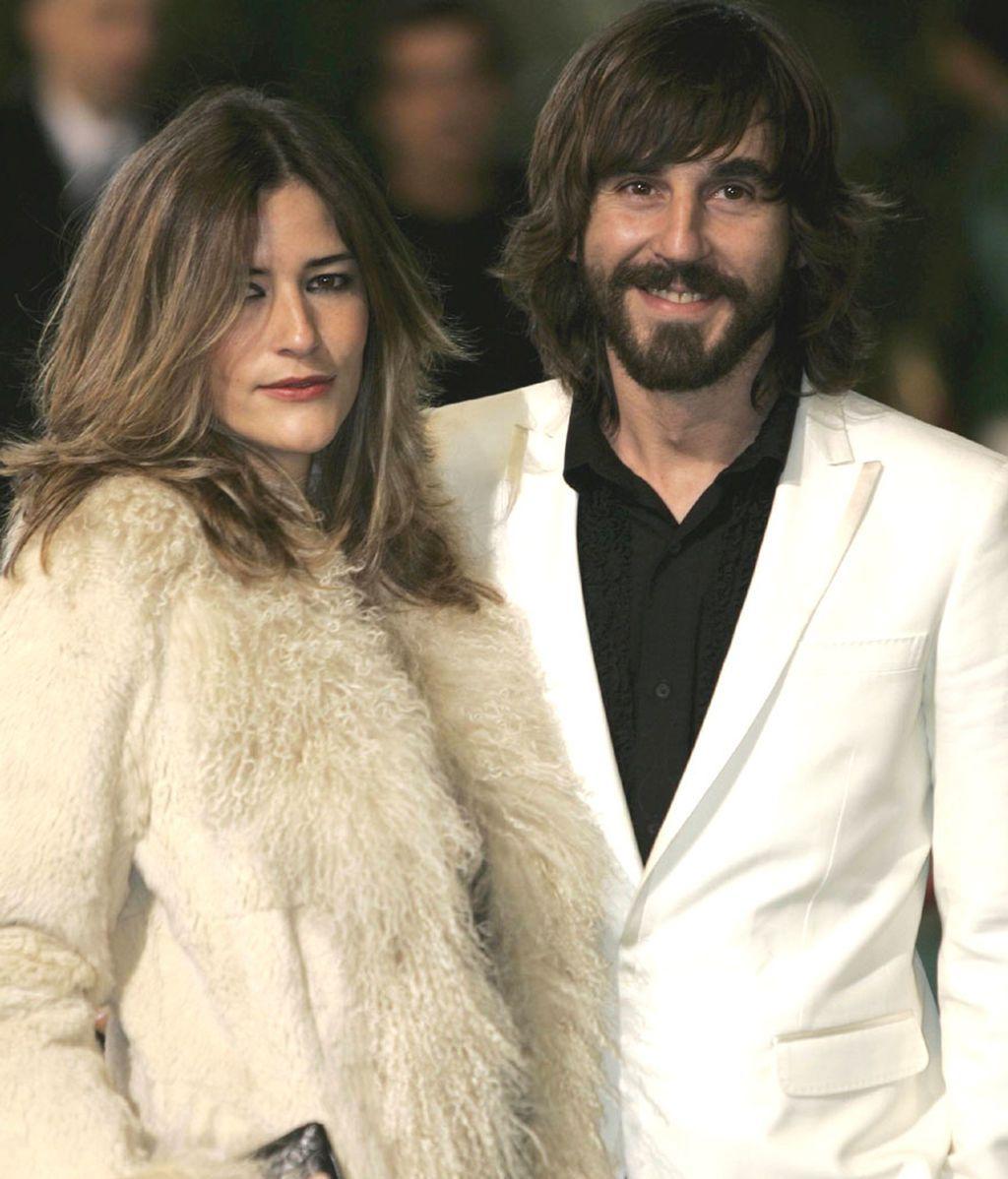Santi Millán, con su mujer, Rosa Olucha