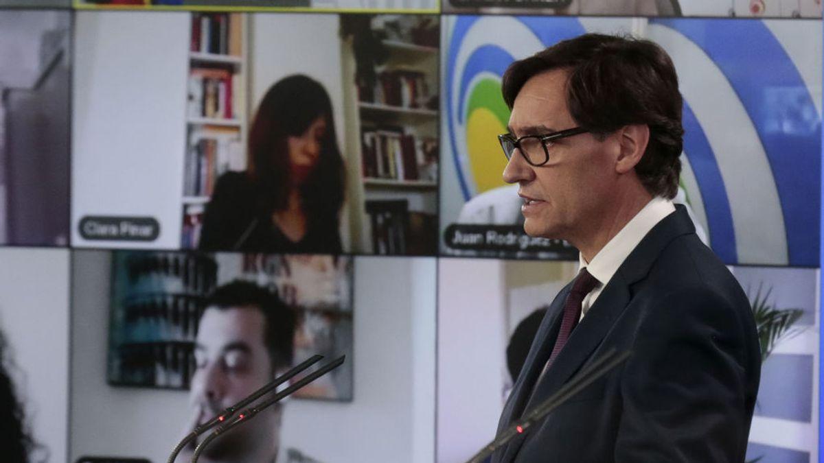 Salvador Illa en la rueda de prensa