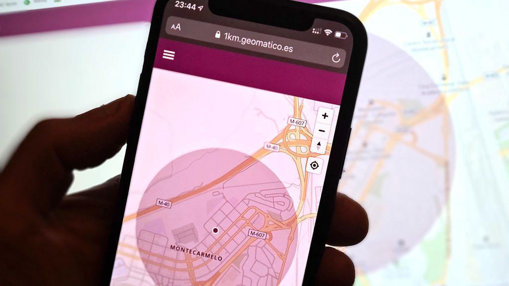 Aplicación para calcular 1 km alrededor de tu casa