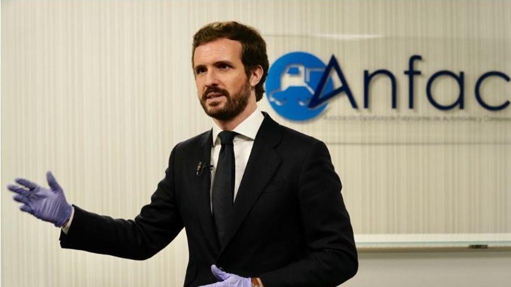 """Casado reprocha a Sánchez que no le haya informado del plan de desescalada: """"Así difícilmente puede exigir lealtad"""""""