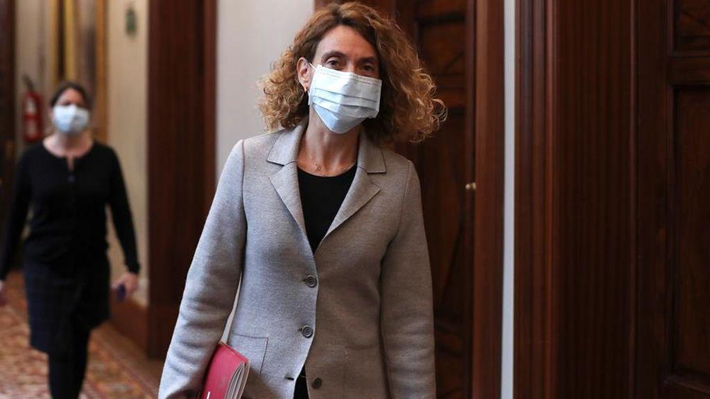La presidenta del Congreso, Mertixell Batet, con mascarilla