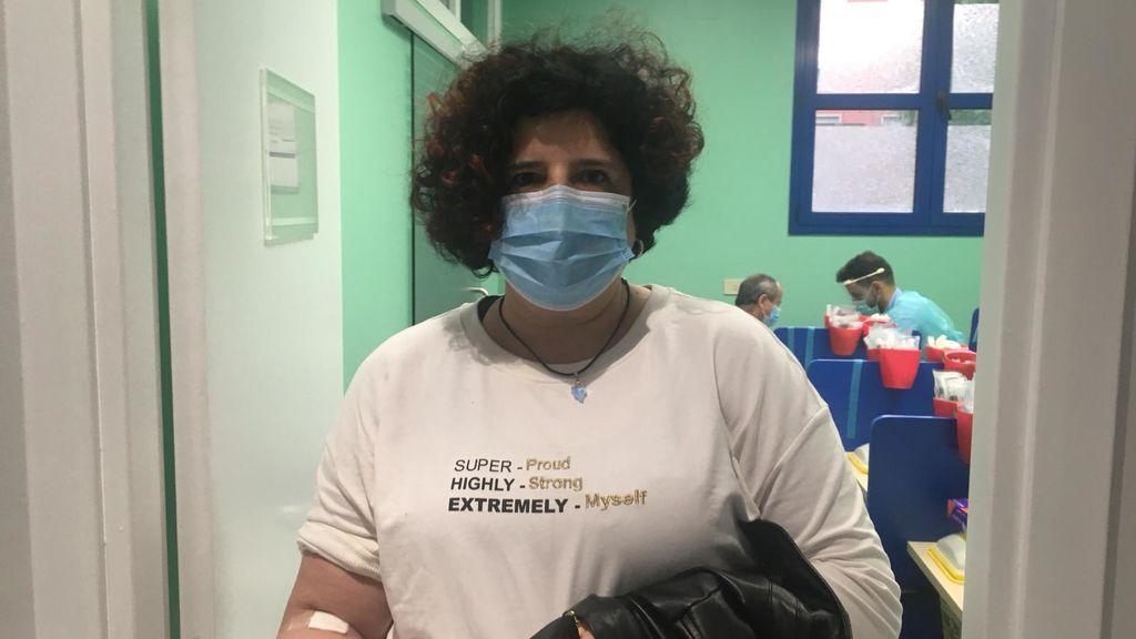Laura, después de realizar el test en un ambulatorio del País Vasco.