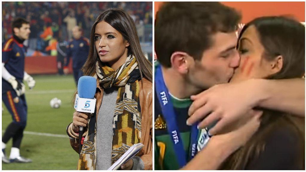 Sara Carbonero y su famoso momento en el Mundial de África.